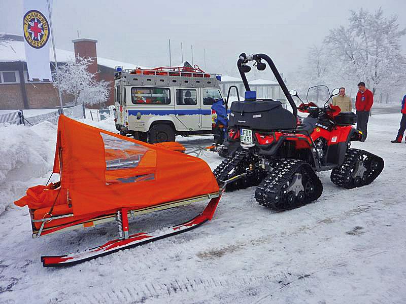 Quad für Pistenrettung auf Abfahrtspisten und Langlaufloipen - Bild: www.atv-quad-magazin.com