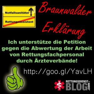 Ich unterstütze die Braunwalder Erklärung