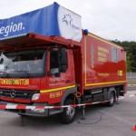 Spezialhubfahrzeug der Fraport AG am Flughafen Frankfurt - Quelle: fire-photographer.org