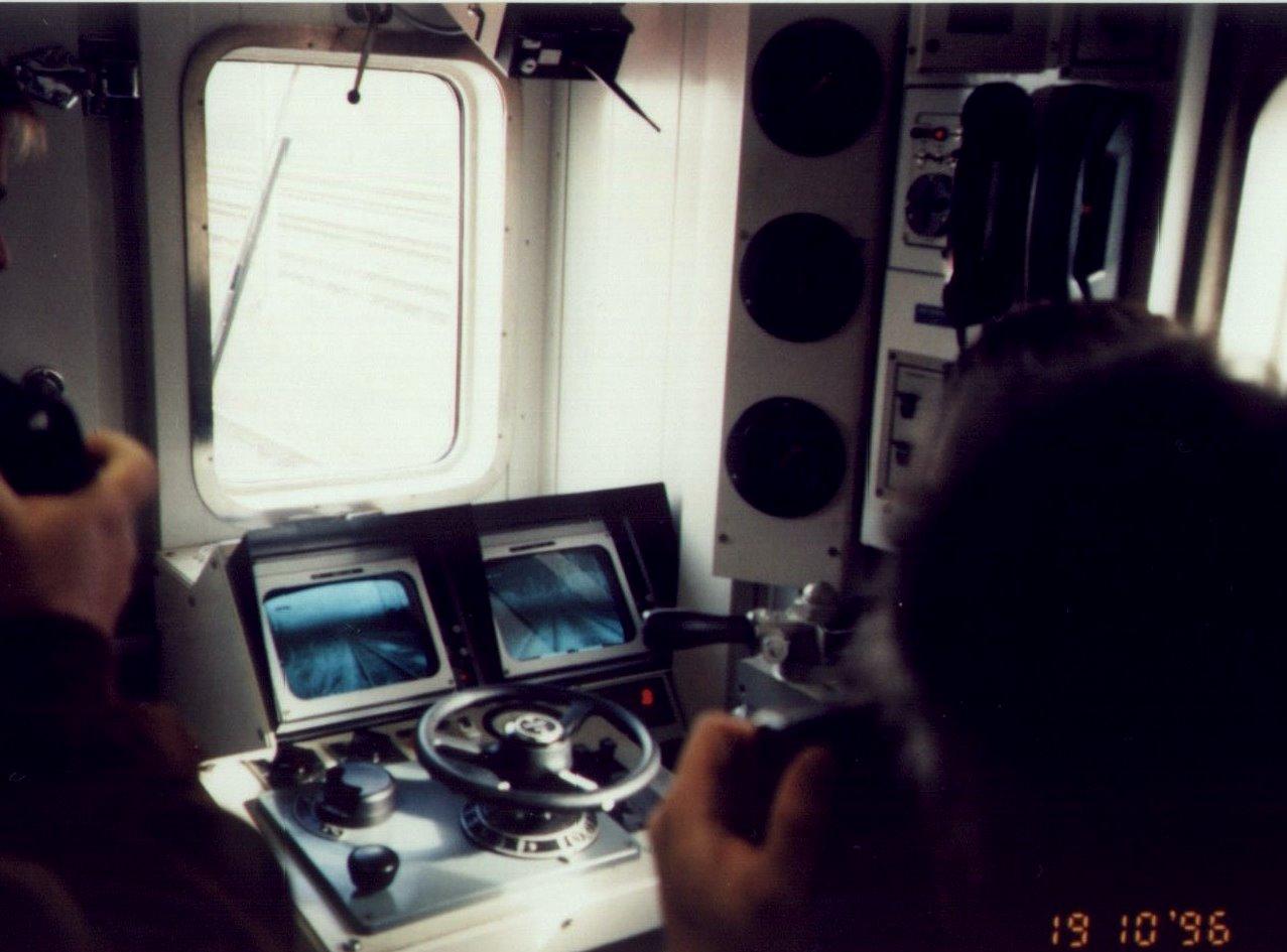 Führerstand im Transportwagen eines Rettungszuges - Quelle: www.wikipedia.de