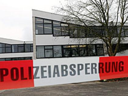 Absperrung des Gefahrenbereiches bei einem Amoklauf - Quelle: www.stern.de