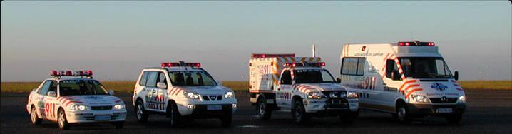 Fahrzeuge von Netcare911 - Quelle: dcsigns.co.za