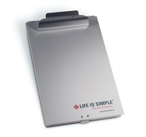 5 x je ein Hochwertiges Aluminium Klemmbrett mit Fach - Zur Verfügung gestellt von Life is simple