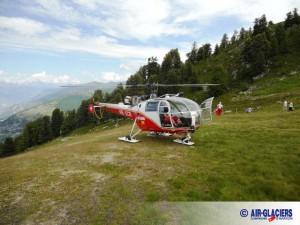 Rettungshubschrauber der Air Glaciers // Quelle: www.air-glaciers.ch