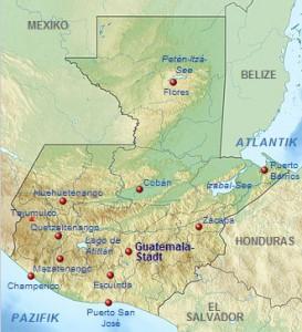 Karte Guatemala - Quelle: wikipedia.de