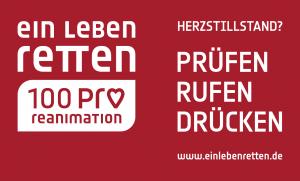 Logo Ein Leben Retten - 100 Pro Reanimation