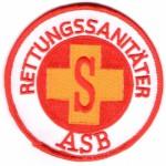 Rettungsdienst Aufnäher des ASB - Abzeichen Rettungssanitäter