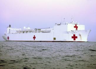 "Hospitalschiff ""USNS Comfort"" der US Navy"