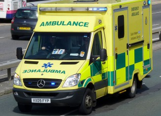 UK Ambulance responding Code 3