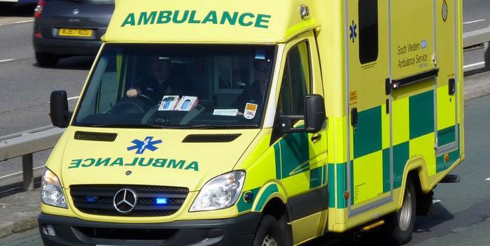 UK Ambulance responding Code 3