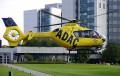 Rettungshubschrauber Christoph 5 vor der BG Unfallklinik Ludwigshafen