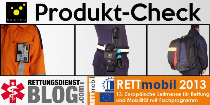 Produktcheck Rettmobil 2013 - Ausrüstungsgegenstände von TEE-UU