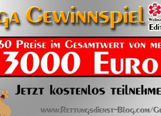 Mega Gewinnspiel - Weihnachten für Retter | Über 60 Preise im Gesamtwert von über 3000 Euro | Jetzt kostenlos teilnehmen auf Rettungsdienst-Blog.com/Gewinnspiel