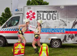 Unser Fotoshooting mit den beiden Bodypainting-Models auf der RETTmobil 2013